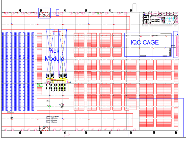 Seber logistics consulting warehouse layout design for Warehouse racking layout software free